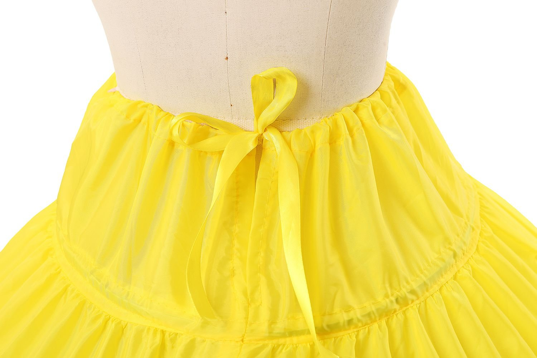 BEAUTELICATE Sottogonna Petticoat Donna Gonna Lunga 6 Cerchio Crinolina Rockabilly Vintage Sottoveste per Vestito Abito… 5 spesavip