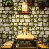 Yosot 3D Stereoskopische Blumen Und Gras Fliesen Tapeten Retro Stein Ziegel Office Store Hintergrundbild