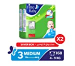 Fine Baby Diapers Mother's Touch Lotion, Medium 4-9Kgs, Mega Pack, 168 Count