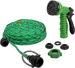 HOKIPO® 7 Pattern High Pressure Garden Nozzle Water Spray Gun with 20 Metre Hose