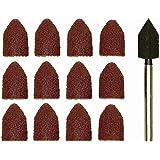 PROXXON 2228987 - Set 10 Papier de Verre Conique + Tige Rouille