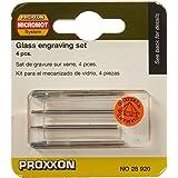 Proxxon 28920 verktygssats för glasbearbetning 4 delar, grön
