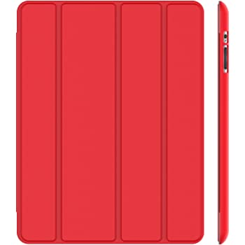 JETech Custodia per iPad 2, iPad 3 e iPad 4, Cover con Funzione di Supporto, Auto Svegliati/Sonno, Rosso
