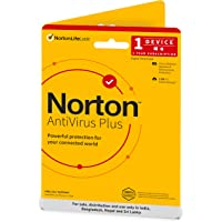 Norton Antivirus Plus | 1 User 1 Year | Includes Smart Firewall & Password Manager | PC or Mac | Physical Delivery | No CD