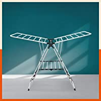 Bathla Mobidry Neo - Foldable Clothes Steel Drying Stand with Weather Resistant Frame (Black)