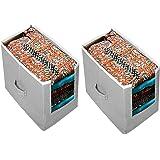 ARVANA Non - Woven Storage Boxes Kurtis Organizer for Girls/Women Wardrobe and Closet Organizers (Pack of 2, Grey)