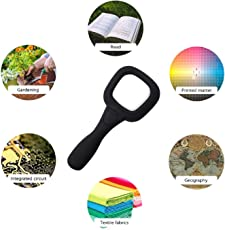 Kurtzy Magnifying High-Powered Pocket Magnifier Lens 6 Times Reading Glass for Books, Newspaper, Jewellery Work, Coin Examining with 6 LED and 1 UV Lights