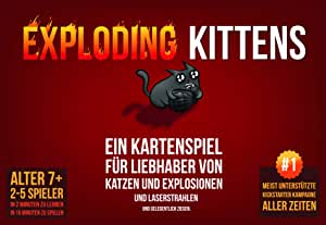 Asmodee ASMD0007 Exploding Kittens Party-/Kartenspiel-Deutsch