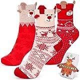 Calcetín Lindos para Navidad, Calcetines Mujer Navida, Adecuado para Regalos para Novia, Cumpleaños, San Valentín, Navidad