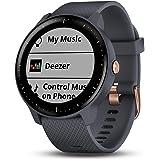 Garmin Vívoactive 3 Music GPS, Fitnesssmartwatch, Muziekspeler, Garmin Pay, vooraf Geïnstalleerde Sport-Apps, Rose Gold en Gr
