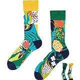 TODO COLOURS Casual Mix & Match - Calcetines divertidos con diseño de piña, multicolor