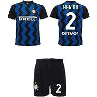 Completo Hakimi Inter 2021 Achraf Ufficiale 2020-2021 Maglia e Pantaloncini Adulto Ragazzo Bambino 2