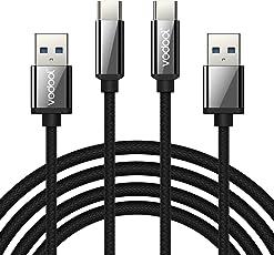 Alloyseed USB C Kabel, Typ C Ladekabel auf USB 3.0 - Nylon Type C Kabel kompatibel mit Samsung Huawei HTC, 2-Pack, 1,1.5m