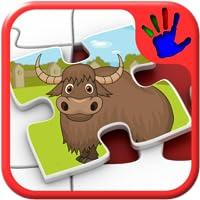 Kinder Zoo Jigsaw Puzzle Tierfiguren - Bildung junger Kinder Spiel lehrt passenden Fähigkeiten geeignet für Kleinkind und Pre-School-jungen und Mädchen 2 +