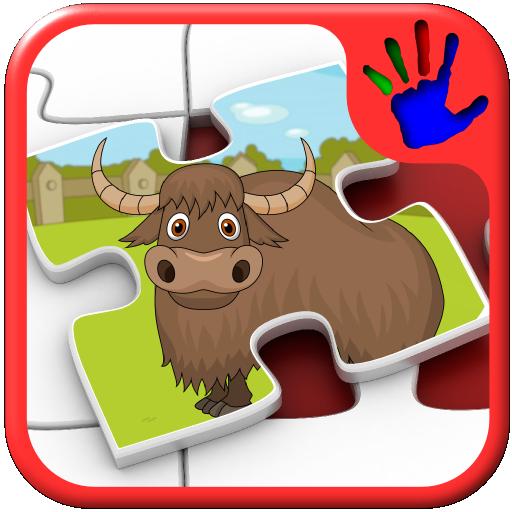 Kinder Zoo Jigsaw Puzzle Tierfiguren - Bildung junger Kinder Spiel lehrt passenden Fähigkeiten geeignet für Kleinkind und Pre-School-jungen und Mädchen 2 + -