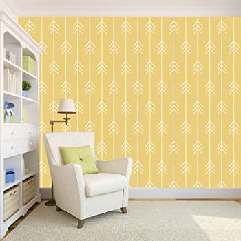 100yellow Wallpaper Yellow Color Arrow Printed Self Adhesive Peel