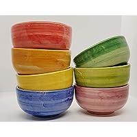 n.1 Ciotola Tazza Ceramica Realizzata e dipinta a mano Le Ceramiche del Castello Made in Italy dimensioni 12,5 x 12,5 x…