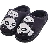 Gaatpot Femme Hommes Chaudes Pantoufles Automne Hiver Enfant Fille Mignon Panda Chaussons Garcon Slip-on Slippers…