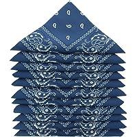 KARL LOVEN Molte bandane 100% Cotone Paisley Sciarpa Testa Collo Fazzoletti - Lotto di 5/10/20