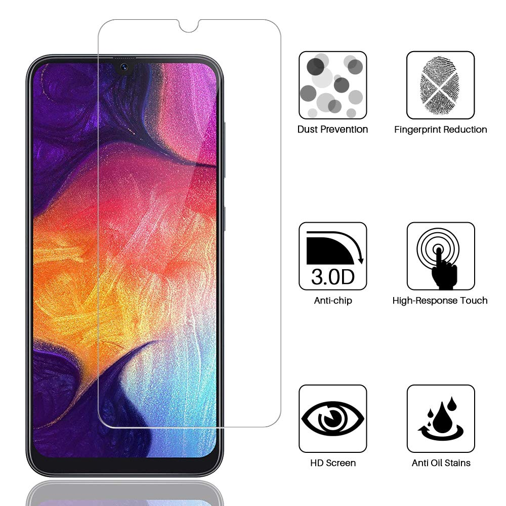 Resistente a Ara/ñazos 9H Dureza LK Protector de Pantalla para Samsung Galaxy M30s // A30s Cristal Templado, Vidrio Templado Screen Protector para Samsung M30s // Samsung A30s 3 Pack