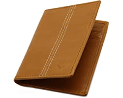 Pelle Toro Minifold Leather Credit Card Holder Wallet for Men, Thin RFID Blocking Contactless Card Protector, Handmade Minima