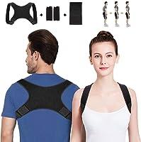 WOTEK Geradehalter zur Haltungskorrektur Rückenstütze Rückenbandage Haltungstrainer Haltungskorrektur Rücken Damen und Herren-Größenverstellbar(mit 2 Schulterpolster, Senden Sie Knieschoner)