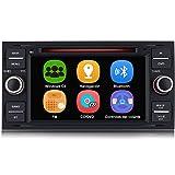 AWESAFE Radio Coche 7 Pulgadas para Ford con Pantalla Táctil 2 DIN, Autoradio de Ford con Bluetooth/GPS/FM/RDS/CD DVD/USB/SD,