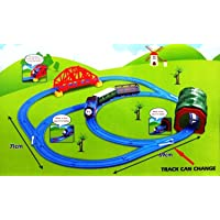 RV Media Battery Operated Tomas Train Set with Changeable Tracks, over-Bridge, Tunnel with Light Sound and Accessories…