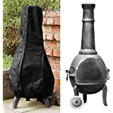 Comficent Large Chimenea Cover Waterproof Breathable Oxford Fabric Outdoor Garden Patio Heater Cover Black for Veranda…