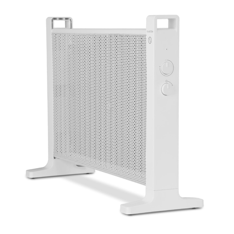 Ba/ño 1500 W Temperatura Ajustable Blanco Ruedecillas Incluidas Silencioso Montaje en Pared Klarstein HeatPalMica15 Calefacci/ón el/éctrica 2 Niveles Estufa Mica