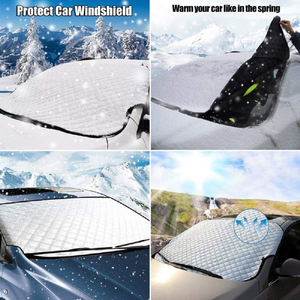 CAR VAN 4X4 WINDSHIELD HEAVY DUTY WINDSCREEN FROST COVER ICE SNOW DUST PROTECTOR