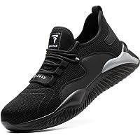 YISIQ Chaussures de Sécurité Homme Femmes Embout Acier Protection Confortable Léger Respirante Chaussures de Travail…