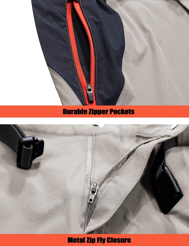 71o3GltzpbL - TACVASEN Men's Lightweight Sport Walking Trousers Outdoor Hiking Pants with Zipper Pockets
