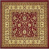 Tradizionale tappeto Agra, Polipropilene, Red, 6 x 6