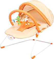 Tiffy and Toffee Baby Buddy Musical Bouncer (Pumpkin Orange)