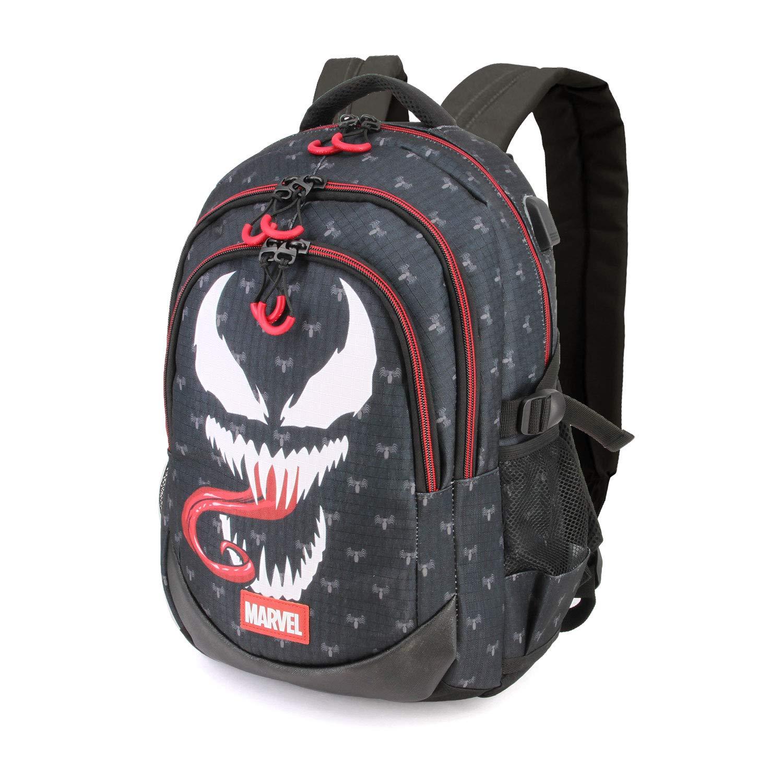 Karactermania Venom – Mochila con 3 Compartimentos, Negro, 44 cm