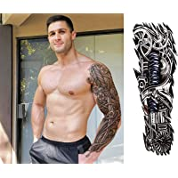 S.A.V.I Full Arm Hand Temporary Tattoo For Men Girls Women Sticker Size 48x17cm - 1pc. (8), Multicolor, 7 g