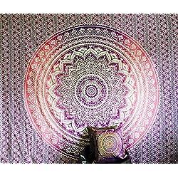 Indio Manta Hippie Gypsy Cubierta bohemio dormitorio deco 100% algodón diseño de impresión de bloque de Impreso A Mano Tapiz Mandala Colgar en la pared playa Colcha vendedor UK