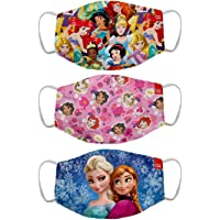 Bon Organik Disney Princess (OFFICIAL MERCHANDISE) 2 Ply Printed Cotton Cloth Face Mask Bundle For Kids (Set Of 3) (4-8Y…