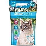 Arquivet Arena Gato Silica Crystal - Capacidad 3,8 L - Lecho higiénico para Gatos, felinos - Capacidad Absorbente - Ayuda a E