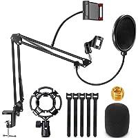 Renfox Supporto Microfono Regolabile Professionale Braccio per microfono Con Ragno e Adattatore per Studio Registrazione…