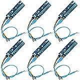 Ubit PCI-E Riser | Powered Riser adapterkort | PCIE VER 006C 6-stifts 16x till 1x | 6PIN PCI-E till SATA strömkabel stigkort