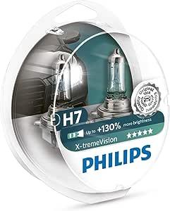 Philips 12972XVS2 - H7 X-Treme Vision - Lampadina fari auto, S2, 12V, 55W, SP, Confezione da 2