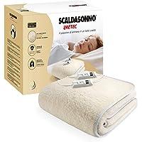 Imetec Scaldasonno Electric Blanket Matrimoniale 150x160 cm, 50% Lana e Merino, 2 Temperature, Dispositivo Sicurezza…