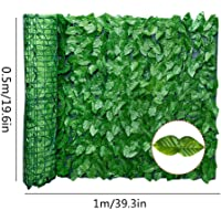 GoldCister Artificial Leaf Screening, Expanding Trellis Fence Roll With Ivy Leaves, UV Fade Protected Privacy Hedging Wall Landscaping Garden Fence Balcony Screen