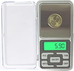 Metro Electronic Pocket Scale MH Series, 200g (Silver)