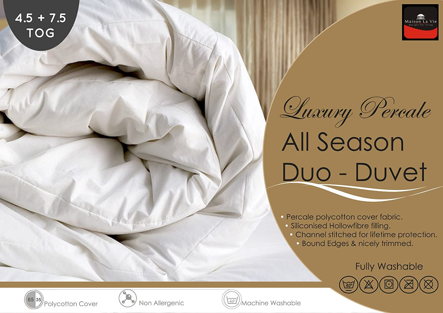 Percale - Pure Luxury New All Seasons Duo Duvet / Quilts Set - 4.5 ... : all season quilts - Adamdwight.com