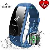 """Smart Watch Wasserdicht IP67 Activity Tracker mit Pulsmesser - Fitness Tracker 0,96""""OLED-Bildschirm Bluetooth 4,0 Schrittzähler Smartwatch Wireless USB-Laden Armband mit Wettervorhersage"""