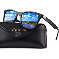GQUEEN Classic Polarised Sunglasses for Men Women Driving Fishing Sports UV400, MO90