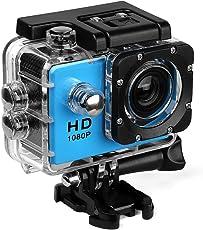 Aktion Kamera 480P Wasserdicht Sport Cam 140 Grad Ultra Weitwinkelobjektiv mit Montage Zubehör Kits für Schnorcheln, Motorrad, Fahrrad, Helm, Auto, Ski und Wassersport